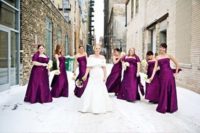 Gorgeous winter bridesmaid dresses for Winter wedding party dresses